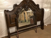 brown wooden dresser with mirror 21 km
