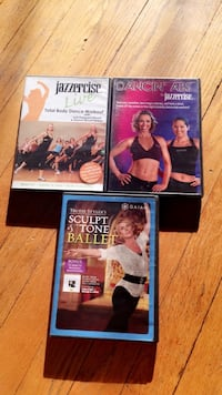 three fitness DVD cases Riverdale Park, 20782
