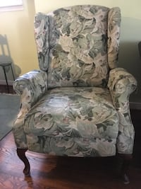 Flowered wing chair TORONTO
