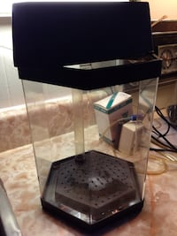 Hexagon Fish Tank w/ Light Pump & Hose