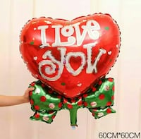 Heart shaped decorating balloon foliesballong