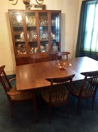 brown wooden dining table set Boston