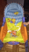 baby's blue,yellow,and,orange Fisher-Price bouncer