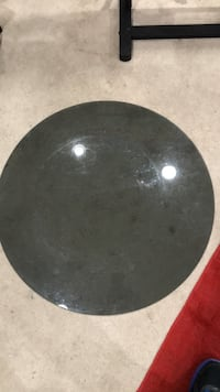 Round smoky glass table top Alexandria, 22311