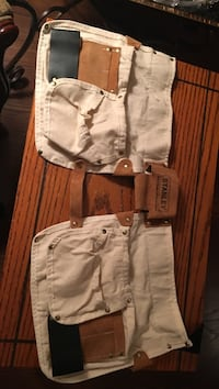 Stanley child's tool belt. Canvas, leather and suede