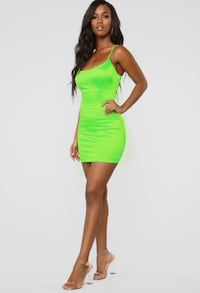 Fashion Nova Neon Green Dress Toronto, M4J 1R1
