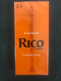 Rico Bb Clarinet Reeds, Strength 2, 25-pack Los Angeles, 90019