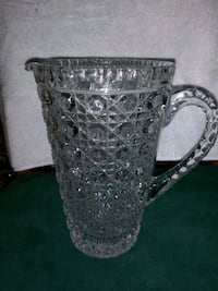 American Cut Crystal Pitcher, AMC13, made in West Germany Norfolk, 23505