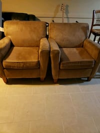 brown leather sofa chair with ottoman Rockford, 61108