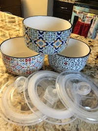 Bowls with covers (set of 6)
