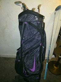 black and purple golf bag Houston, 77061