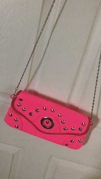 pink leather studded crossbody bag Toronto, M9W