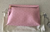 Authentic LOEWE T anagram embossed oversize pouch/clutch  3125 km