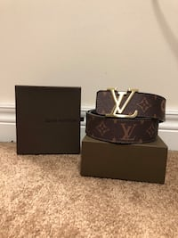 Brown LV/Supreme Belt
