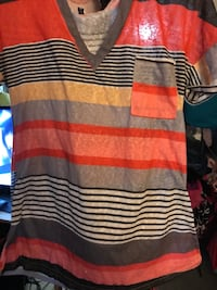 black, white, and red striped sweater Barstow, 92311