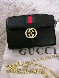 Gucci leather crossbody purse