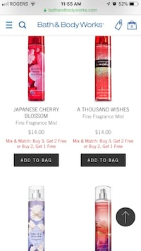 Bath and body sprays! And more! Whatever you need I have