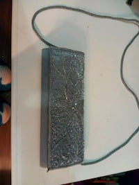Grey blue clutch Houma, 70364