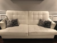 White Bonded Leather & Chair for $100 Oakville, L6M 1H6
