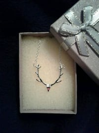 Deer Antler necklace Silver-tone Hunter hunting North Augusta, 29841