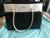 NEW: Black and white kate spade leather tote bag