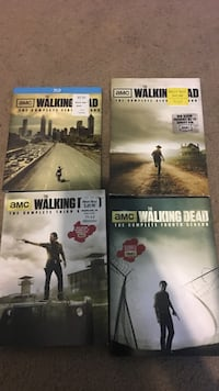 Four the walking dead dvd cases