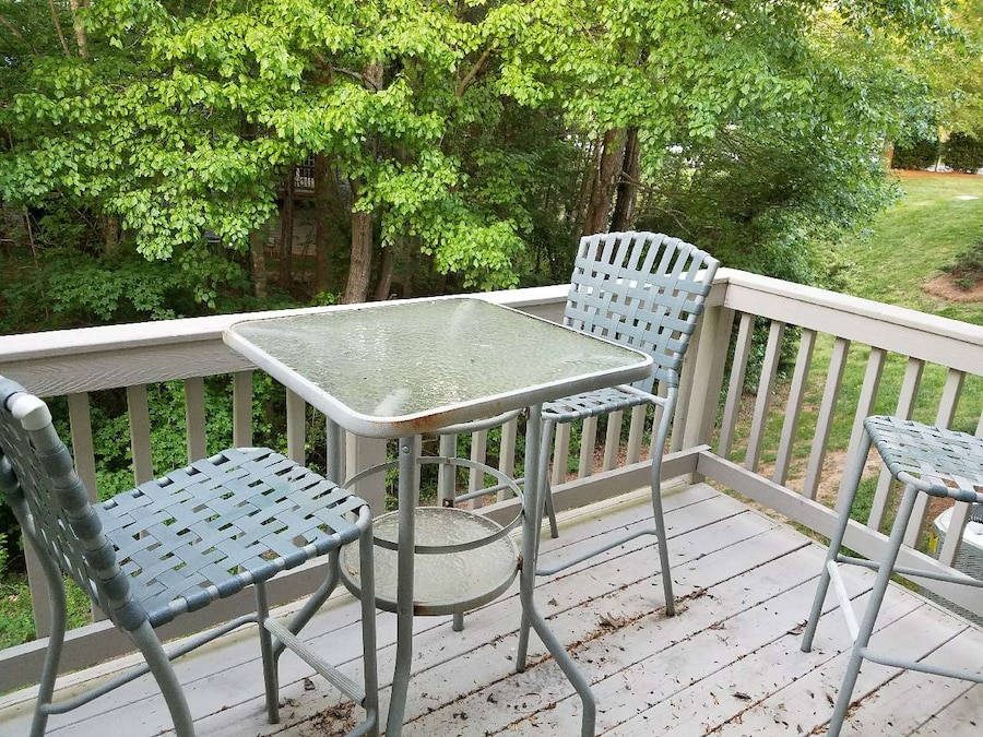 Used Patio Furniture Bar Top Table And Three Chairs In Charlotte