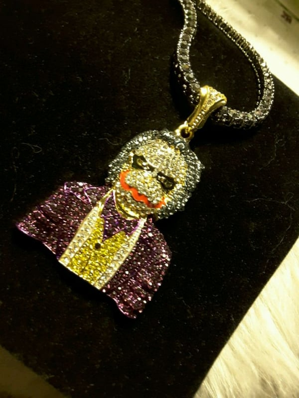 Necklace:  NEW Iced-Out 1Row $25 & TV Movie Guy $25 both=45$ bf03cce4-ceb3-4b70-b056-9253947b17ec