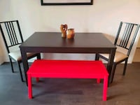 extendable dining table + two chairs and the bench   Toronto, M5V 3Y5