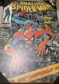 Vintage Spiderman 100th Anniversary Wall Art Washington