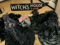 4 Witches's Hats, Cauldron, Witch's Sign & more  Woodmere, 11598