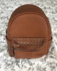 Brown leather backpack Independence, 41051
