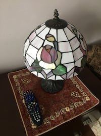 Multicolored stain glassed lamp