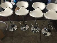 Brand new set of 4 white and chrome bar stools San Antonio, 78255