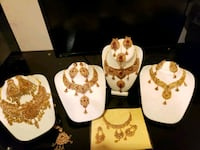 Gold plated bridal sets