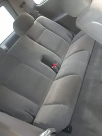 gray fabric car backseat