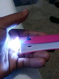 Pink portable charger Independence