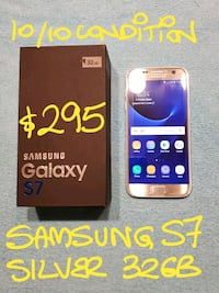 SAMSUNG SILVER S7 32GB10/10MintCondotion Pointe-Claire, H9R 1N9
