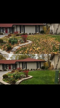 Lawn mowing fall clean ups leaf clean up Hamilton