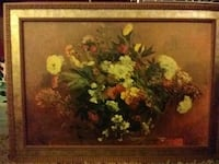 multicolored flowers painting with brown wooden frame Louisville, 40213