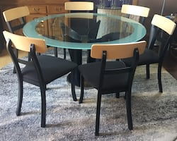 Modern glass Dining set.