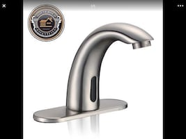 Brushed Nickel Touchless Bathroom Sink Faucet - Ha