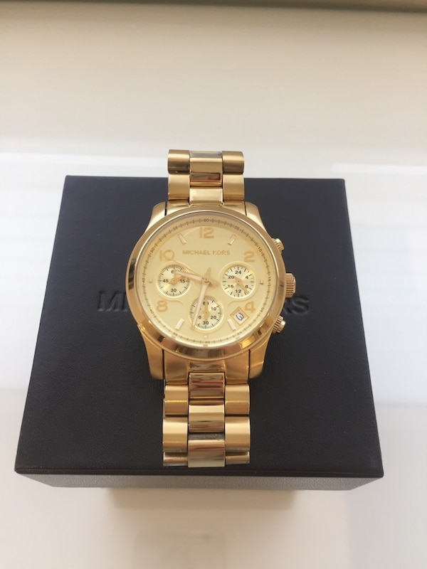 3d41d427ea92 Michael Kors Gold Runway Chronograph Watch MK5055 for sale in Mississauga