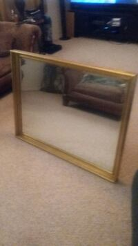 Brass painted frame Hanging Mirror  Decatur, 35601