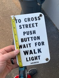 Vintage walk light sign