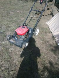 black and red push mower Wolfforth, 79382