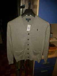 Camicia a maniche lunghe button-up grigia Milano, 20147