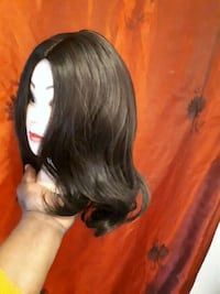 women's black hair wig