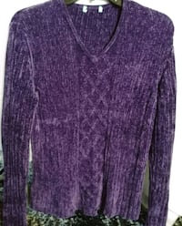 Purple Velor Pullover Downey, 90241