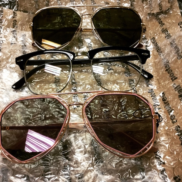 Sunshades & Malcolm personality glasses